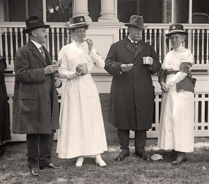 She knew all the right people… You are looking at a  photo of Red Cross Luncheon On General Scott's Lawn. Boardman (second from left) is hanging with Taft (second from right) who was a close friend.