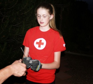 Here is a photo I snagged from Colorado Red Cross' blog.  This is the safest way ever to use a sparkler!