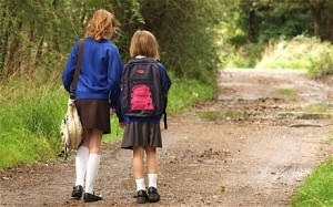 Know what route your children will be taking if they walk or ride their bike to school.
